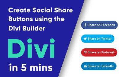 How to Create Divi Social Share Buttons without having to install a Plugin