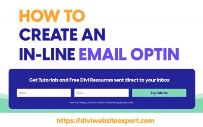 How to Create an inline Divi Opt In Form with the Divi Builder