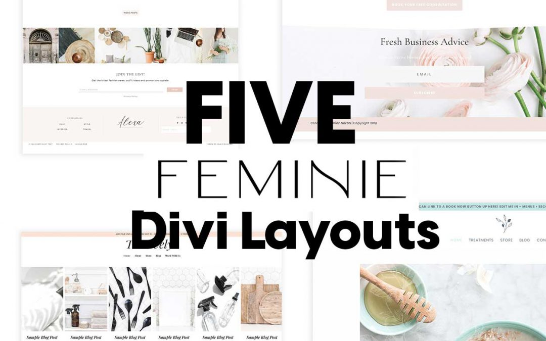 Five Stunning Feminine Divi Layouts