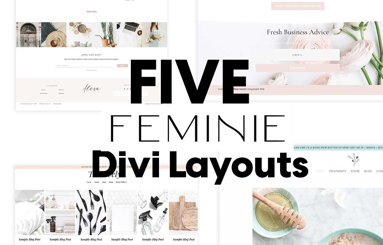 Five_feminine_Divi_Layouts