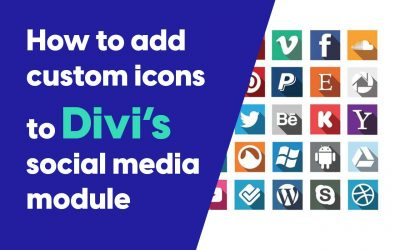 How to add custom Icons to Divi's social media module